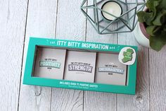 New Inspiration Box Set of 3 Miniature Quote Books from