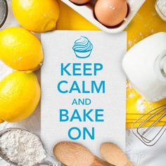 """""""Keep Calm and Bake On"""" --- We couldn't agree more! #Baking #Quotes #KeepCalm"""