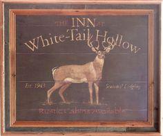 """""""Whitetail Hollow"""" Deer Framed Wildlife Art Print  For  $64.99"""