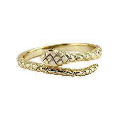 """""""Snake""""  Anillo de plata de ley bañado en oro. Consíguelo sólo hoy con gastos de envío gratuitos. """"ENVÍOGRATISREYES"""" www.koketta.es"""