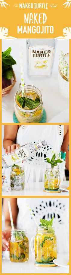 Explore The Naked Turtle Rum's 'Naked' cocktail recipes. The Naked Turtle tastes best with soda water or fresh fruit juice. Summer Drinks, Cocktail Drinks, Fun Drinks, Cocktail Recipes, Cocktails, Beverages, Alcoholic Drinks, Fru Fru, Tasty