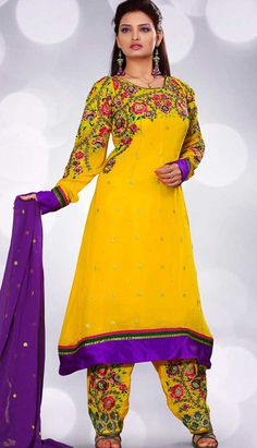 Get Yellow Georgette Salwar #PartyWearSuit Product code: KPW-21372 Price: INR 5868 (Unstitch Suit), Color: Yellow Shop Online now: http://www.efello.co/Salwar-Kameez_Yellow-Georgette-Salwar-Party-Wear-Suit_30924
