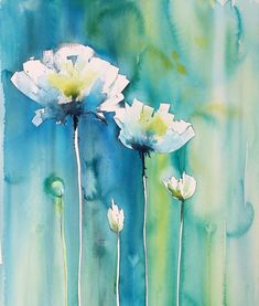 Watercolor Projects, Abstract Watercolor, Watercolor Illustration, Watercolour Painting, Watercolors, Abstract Flowers, Watercolor Flowers, Alcohol Ink Painting, Flower Art