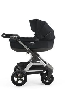 Stokke Trailz with Stokke Stroller Carry Cot Black Accessory – All Terrain Stroller with XL Shopping Basket and Large Air-Filled tires for All Season Strolling  My own Aunt likes this one http://www.geojono.com/