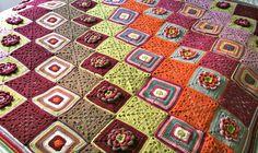 Colourful crochet blanket