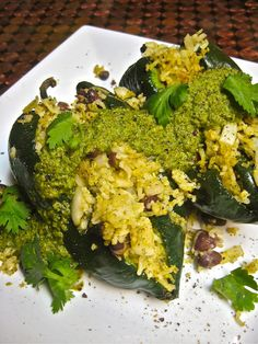 Spicy Cilantro Pepita Pesto Stuffed Peppers (And, yes, that is my new penny bar!) I had originally planned on spendi. Veggie Recipes Healthy, Delicious Vegan Recipes, Vegetarian Recipes, Vegetarian Mexican, Yummy Food, Vegan Foods, Vegan Dishes, Eating Raw, Healthy Eating