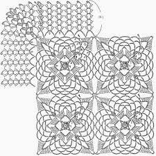 Image result for crochet square motif diagram