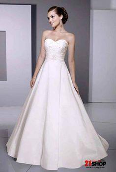 a line wedding dresses - Google Search  a line sweetheart chapel train satin and tafeta