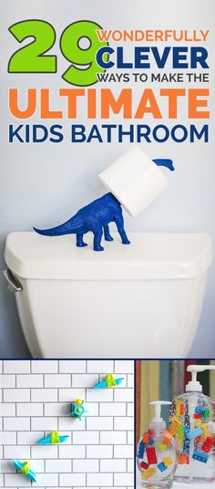 Your kids will remember to flush AND wash their hands in a bathroom like this… maybe.