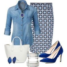 I hate the denim top but otherwise it's lovely! Skirt and shoes are on point