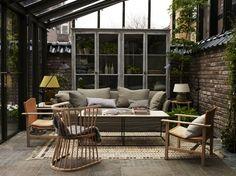decks-patios-living-rooms-natural-brick-walls-cabinets-garden-sheds-garden-storage : Remodelista