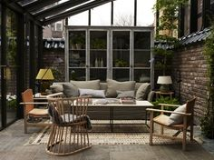 Brick-walls-Cabinets-Garden-sheds-Garden-storage-Hotels-Lounge-chairs-Rugs-Sofas-Tile-floors : Gallery Image : Remodelista