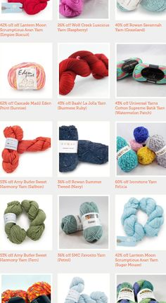 Last chance for the Craftsy Close Out Sale! Get giant discounts on more than 40 stunning yarns! Click the image to browse! http://www.craftsy.com/ext/20120731_Pin1