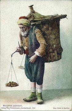 #İstanbul'da Seyyar Satıcı F: Sébah & Joaillier #Tarih #istanbul #istanlook #oldpostcards # history