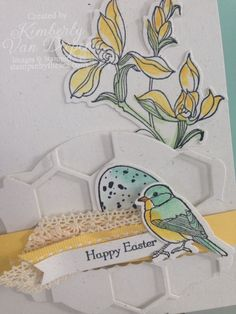 Backyard Basics, Think Spring Backyard Basics, Stampin' Up!  I really like how this bird is colored.