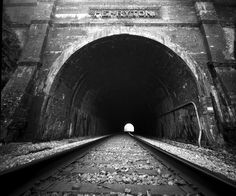 Pinhole Camera photo of railroad tunnel in Ellicott CIty #Maryland
