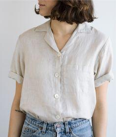 Short Sleeve in Oatmeal Linen