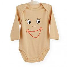 Body Smiley #body #bebe #smiley #invierno #sonrisa #marron #kinousses