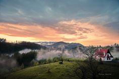 Sunset in Transylvanya Romania - landscape photography - nikon