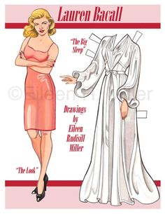 Lauren Bacall Commemorative Paper Doll
