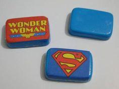 sabonetes decorados adesivo heróis