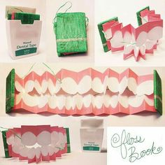 Dental health month 20 super creative teeth crafts and teeth this floss book is a cool idea for teaching kids about flossing solutioingenieria Images