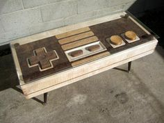 Wooden NES coffee table doubles up as a fully functional controller as well by Ubergizmo