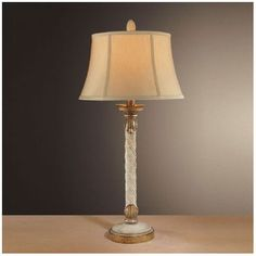 """Minka Ambience 33"""" H Table Lamp with Bell Shade #MinkaAmbience #Traditional"""