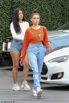 Stunning friends: Madison Beer and Cindy Kimberly looked to be enjoying the lifestyle of a pop star muse as they were spotted out in Los Angeles on Wednesday Estilo Madison Beer, Madison Beer Style, Madison Beer Outfits, Celebrity Outfits, Trendy Outfits, Celebrity Style, Cute Outfits, Fashion Outfits, Cindy Kimberly Outfits