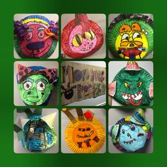 Monster Mask from paper plates and house hold items! My after-school kids are amazing! Go Dacula Academy! Big Green Monster, Monster Mask, Friend Crafts, Imagination Station, Green Monsters, School Kids, Paper Plates, Halloween Crafts, Masks