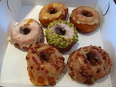 Sara Spearin opened Dynamo Donuts in a San Francisco space in the Mission that used to house a Mexican restaurant and the Casa Sanchez salsa factory.