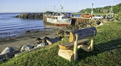 The fishing village of Alma offers fresh seafood, many accommodation options, and adventures at the park and beach such as hiking and sea kayaking. New Brunswick Canada, Fishing Villages, Nova Scotia, Kayaking, Hiking, Adventure, Vacation, Park, Beach