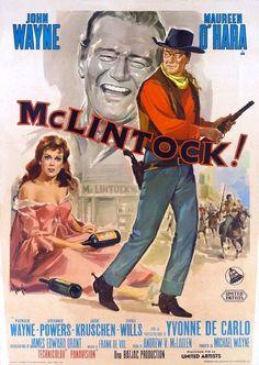 McLintock John Wayne 1963 cult western movie poster print 25
