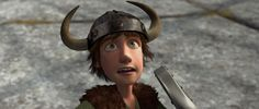 Both the book series version of Hiccup Horrendous Haddock III, and the franchise version of Hiccup Horrendous Haddock III wore a Viking helmet. In How to Be a Pirate, Hiccup's Viking helmet had part of one horn sliced off while swordfighting. Hiccup usually wears a helmet in the books. Toothless sometimes sits on top of it or hides under it.
