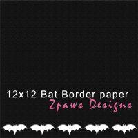 2paws Designs: Friday Freebie - Bat Border paper #scrapbooking #digiscrap #free #Halloween