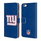 Official NFL Plain New York Giants Logo Leather Book Wallet Case Cover For Apple iPhone 6 Plus / 6s Plus