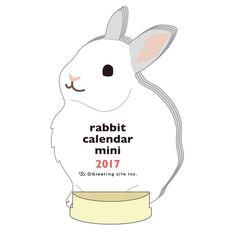 Greeting Life ANIMAL DIECUT CALENDAR MINI Rabbit C-909-ET