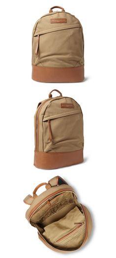 Fred Perry Nylon Coated Rucksack Backpack Regal Blue