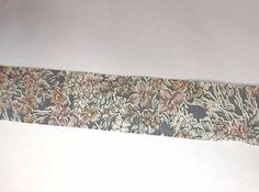 Vintage Cotton Blend Grey Blue Floral   1 3/16 inch wide  5 yards