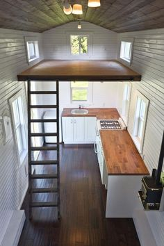 A 224 square feet tiny house on wheels in Delta, British Columbia, Canada. Built by Tiny Living Homes.: