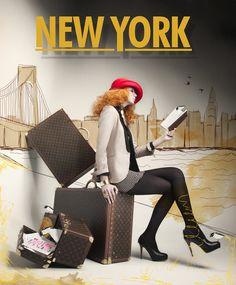 New travel bag illustration louis vuitton Ideas - Modernes New Travel, Travel Style, Travel Bag, Summer Travel, Louis Vuitton, Photomontage, A New York Minute, Shop Window Displays, Illustrations