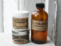 Printable Vintage Poison Apothecary Bottle Labels for Halloween
