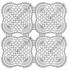 Ponteando: Toalha De Crochê Retangular Modelo Com Gráfico (Crochet Pattern) Einsnummer - Knitting Crochet - Diy Crafts - DIY & Crafts Crochet Tablecloth Pattern, Crochet Blanket Edging, Crochet Doily Diagram, Crochet Motif Patterns, Crochet Chart, Crochet Squares, Thread Crochet, Crochet Granny, Filet Crochet