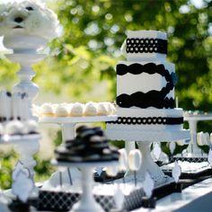 #blackandwhiteparty dessert table
