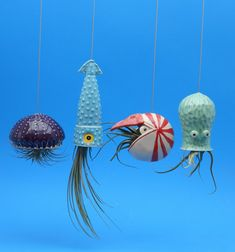 4 Large Air Planters Octopus Garden Collection by CindySearles