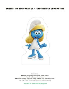 Are you searching for Smurfs: The Lost Village Party Ideas? Matt created a complete set of free party decorations for you to use for your upcoming party. Please feel free to share with your friends by pinning it on Pinterest. Smurfs: The Lost Village – Goodie Bag Toppers Water Bottle Wrapper PDF |Soda Bottle Wrapper …
