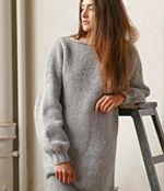 Simple slouchy casual sweater/dress -Free Knitting Pattern
