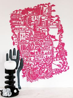 New York Paper Cut - Pink