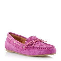 DUNE LADIES GLORIUS - Woven Apron Suede Driver Loafer - pink | Dune Shoes Online