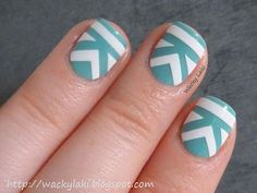 Stripes nail art design
